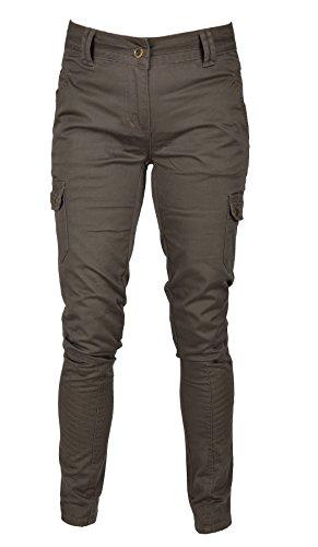 Unbekannt IWEA Damen Cargo Hose lang Jeans Hose Dark Khaki IW050, 38