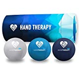 Hand Therapy Stress Balls 3-Pack Adult Gel Squeeze Balls for Therapeutic Restoration, Grip Strength Exerciser, Carpal Tunnel, Arthritis, and Wrist Mobility (Firm, Soft, and Extra-Soft Bundle)