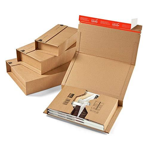 50 St MW354e Wickelverpackungen 245x165 mm Innenma/ß mit 20-70 mm F/üllh/öhe Buchverpackungen