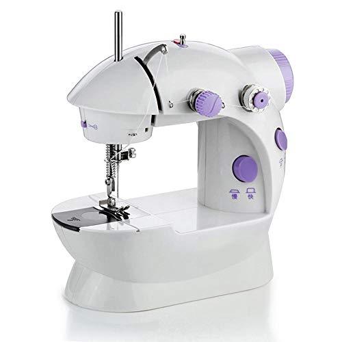 Binwe - Máquina de coser doméstica, mini máquina de coser eléctrica de 2 velocidades con luz, para principiantes