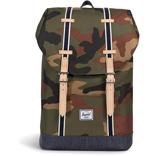 Herschel Retreat Mid-Volume Backpack Mochila tipo casual 47 centimeters 14 Multicolor (Camouflage/ Blue)