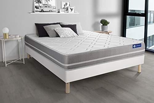 Pack colchón Actilatex Touch 135x190cm + Somier multiláminas, Látex y Espuma viscoelástica, 3 Zonas de Confort