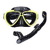 Juego de Snorkel Premium, máscara de Buceo para Adultos con Snorkel, Gafas de natación de Silicona de Vidrio Templado, máscara, Juego de Snorkel en seco