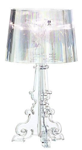 Wlgt Lampada da Tavolo Fantasma Barocco Resina Trasparente Creativo Soggiorno Decorazione Lampada da Tavolo placcatura Divano Tavolino Lampada da Tavolo in Tessuto dimmerabile