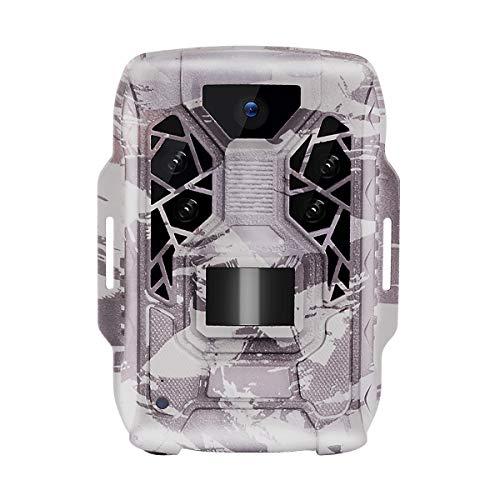 TMEZON Cámara de Caza Nocturna 12MP 1080P con Diseño Impermeable IP66 Cámara de Fototrampeo con Detección de Acción LED IR Sin Brillo para Seguimiento Cinegético de Fauna
