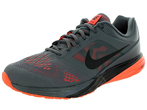 Nike Herren TRI Fusion Run Laufschuhe, Grau/Schwarz/Orange (Dunkelgrau/Schwarz-Hyper orange), 40 1/2 EU