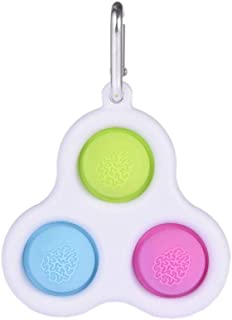 Fat Brain Toys - Simple Dimple Keychain Fidget Hand Toys Novelty Baby Sensory Toy Pressure Relief Special Needs Toys Stres...