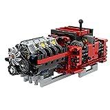 CALEN Technics MOC-79482 Technics GTE Manual de 8 velocidades, bloque de construcción de motores de caja de cambios de motor de 685 piezas, compatible con Lego Technic