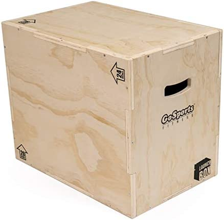 GoSports Fitness Launch Box 3 in 1 Plyo Jump Box for Exercises of All Skill Levels Natural product image