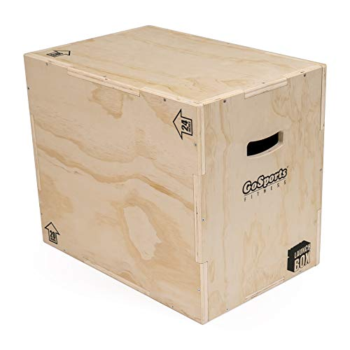 GoSports Fitness Launch Box | 3-in-1 Plyo Jump Box for Exercises of All Skill Levels, Natural