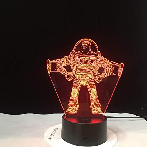 Lmpara de mesa LED pequea, luz tctil inteligente Lmpara de mesa 3D Color de mesa LED nio nio juguete decoracin familiar cumpleaos decoracin nica del hogar