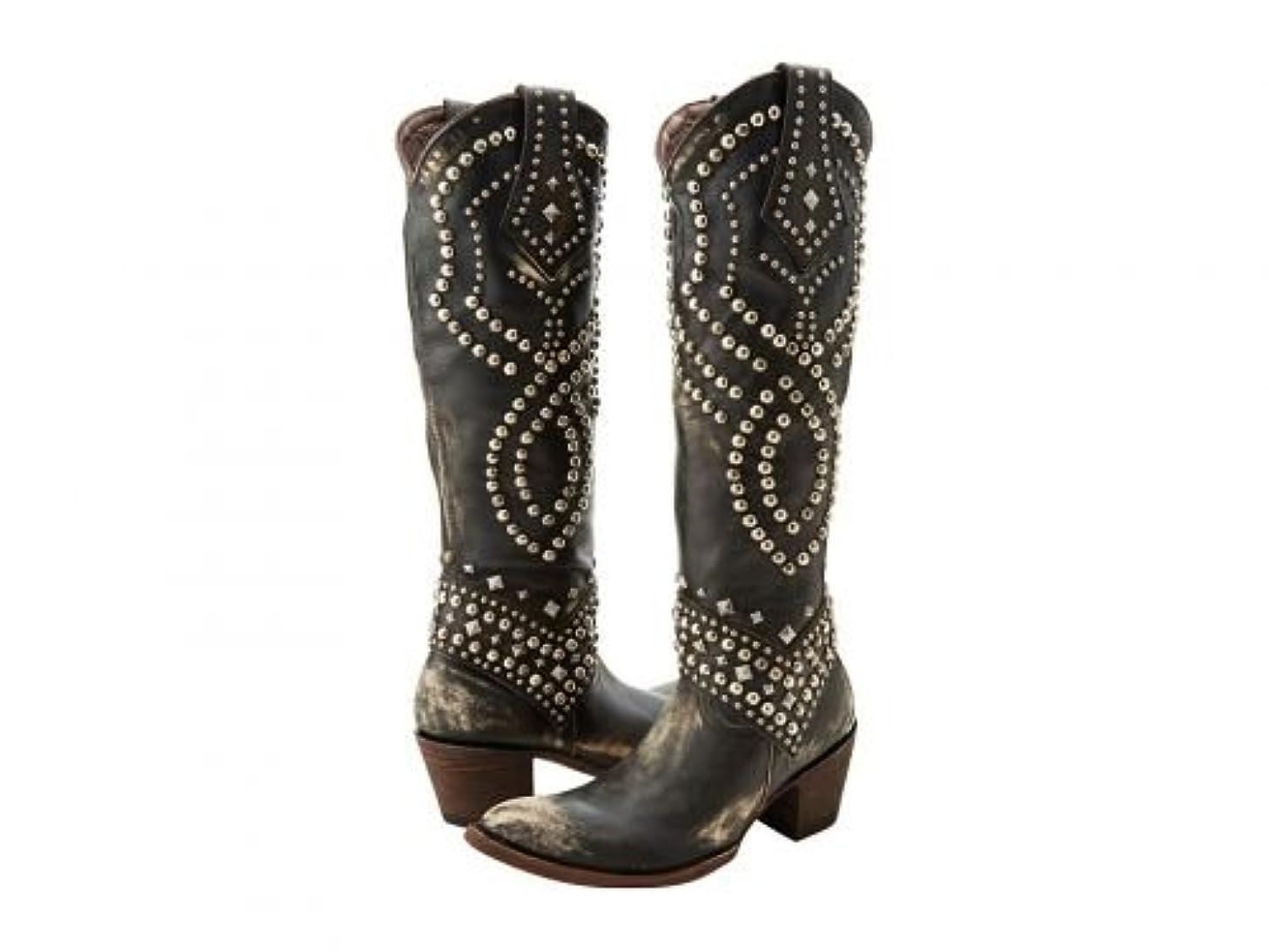 ブラインド用量春Old Gringo(オールドグリンゴ) レディース 女性用 シューズ 靴 ブーツ ウエスタンブーツ Belinda - Black/Beige [並行輸入品]