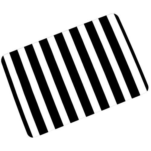 Eastery Fußmatte Gestreift Motivfußmatte rutschfest Schmutzabstreifer Türmatte Eingangsmatte Badematten (Muster #1 Einfacher Stil 45 * 75Cm) (Color : Muster#1, Size : 60 * 90Cm)