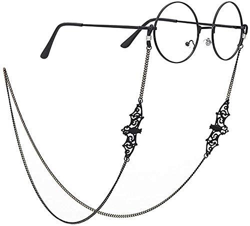 PARDLY Black Bat Eyeglasses Chain for Women Men glasses Holder Strap Cord for Sunglasses Eyewear, Medium