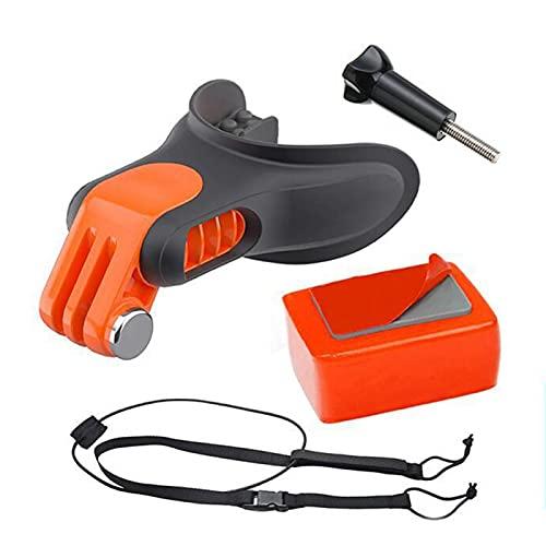 TGUS - Juego de montaje bucal para surf Skating Bite Boca Floaty Holder para GoPro Hero 7 6 5, Surf Braces Connector Ligero, accesorios de cámara portátil