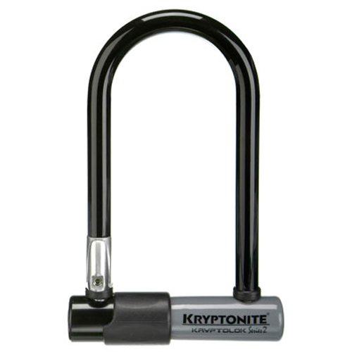 Kryptonite Kryptolok Series 2 Mini-7 Heavy Duty Bicycle U Lock Bike Lock, 3.25 x 7-Inch