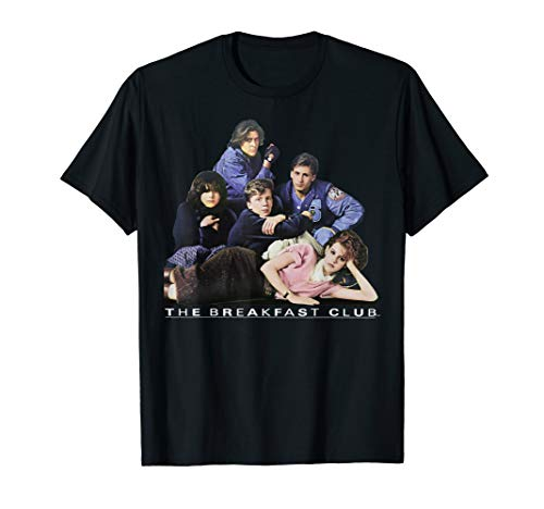 Breakfast Club Group Portrait Movie Logo Graphic T-Shirt for Adults, Kids, up to 3XL