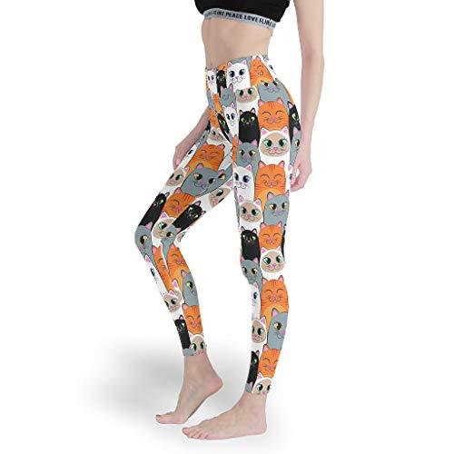 Mädchen Sexy Leggings Verschiedene Designs Yoga Hosen Capris Tights für YogaAnimal White 3XL