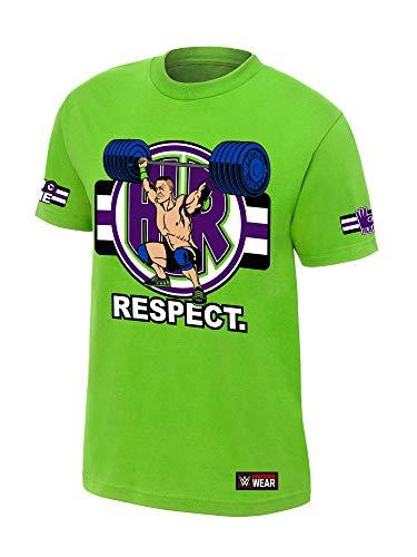 WWE Authentic Wear John Cena Cenation Respect T-Shirt Lime Green Medium