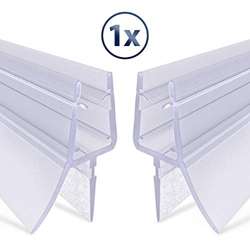 .one-bath Premium Duschdichtung 80cm | Glastür Dichtung Universal für 6mm 7mm oder 8mm Dicke | Wasserabweisende Duschkabinen-Dichtung