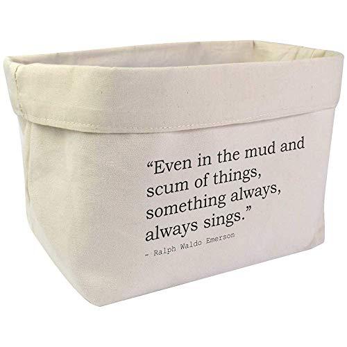 Azeeda Large Inspirational Quote By Ralph Waldo Emerson Canvas Organiser / Storage Bag (OR00004748)