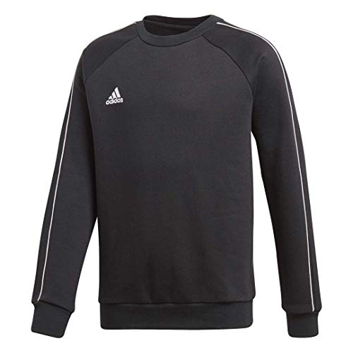 adidas Juniors' Core 18 Soccer Sweatshirt, Black/White, Large