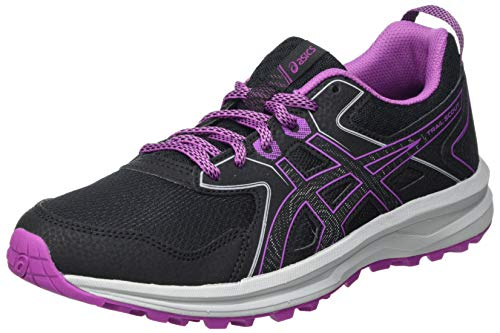 Asics Scout, Trail Running Shoe Mujer, Black/Digital Grape, 37 EU