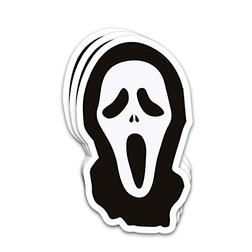Endibast Screams American Halloween Film Fanart Potraits Ghostface Horror Decorates Stickers for Laptops Tumblers Books Luggages Cases Pack 3x4 in Vinyl 3pcs/Pack