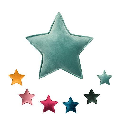 Betty´s Home Stern-Kissen aus weichem Veloursstoff, hypoallergische Füllung, 55 cm, 100% Polyester