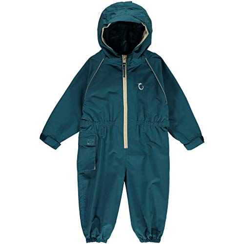 HIPPYCHICK Waterproof One Piece Coverall Rain Suit - Peacock Green 2-3 yrs