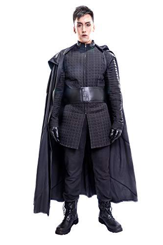 Xcoser Kylo Ren - Traje de cosplay para hombre, túnica, guantes y bufanda y cinturón -  -  Medium