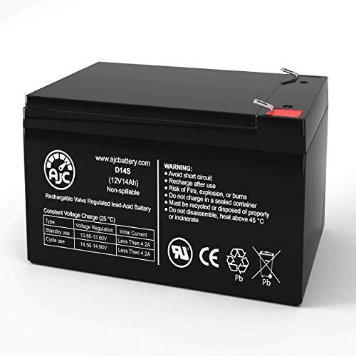 Invacare LynxL-4 12V 14Ah Mobility Scooter Battery - This is an AJC Brand Replacement