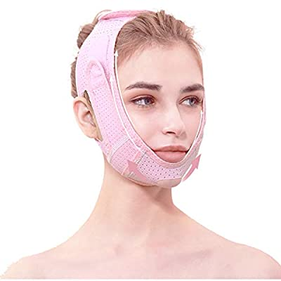 Face Slimming Strap, Double Chin Reducer, Reusable Breathable V Line Lifting Chin Strap Ultra-thin Sleeping Face Neck Slimming Band for Eliminates Sagging Skin (SL01) by Solati
