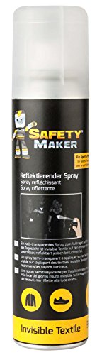 Safety Maker Erwachsene Reflektorspray Invisible Textile 100 ml, Schwarz, 0.1