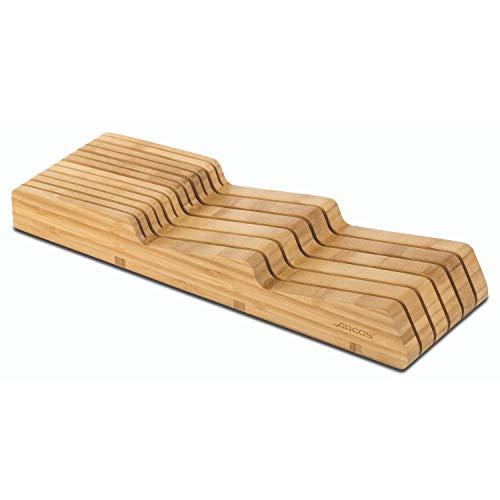 Arcos 794300 Taco Cajonera Organizador Cuchillos, bambú, Marrón, 39 x 432 x 139 mm