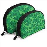 Egrame Forest Green Camouflage Textura personalizada bolsa de almacenamiento de viaje Shell forma para señoras cosméticos almacenamiento