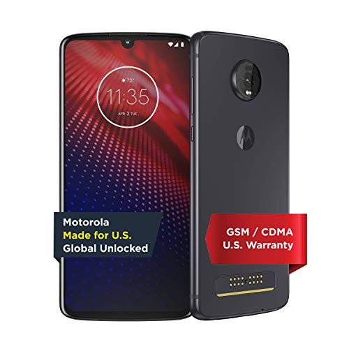 Moto Z4 – Unlocked – 128 GB – Flash Gray (US Warranty) - Verizon, AT&T, T-Mobile, Sprint,...
