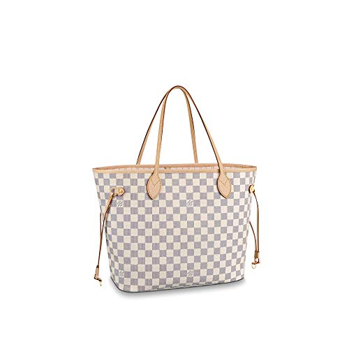 Louis Vuitton Neverfull MM Damier Azur Bags Handbags Purse (Beige)