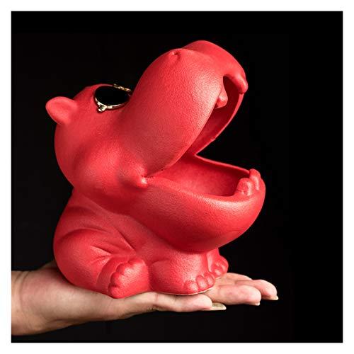 WPBOY Cenicero portátil con diseño de animales creativos para ceniceros de escritorio para el hogar, la oficina, decoración de interiores, regalos, cenicero de moda (color: rojo)