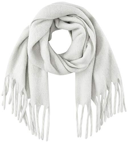 Opus Damen Aflisa scarf Schal, Grau (Iron Grey Melange 8057), One Size