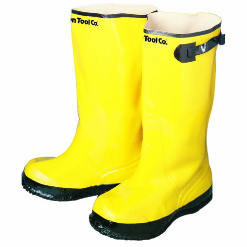 Bon 14-716 Heavy Duty Yellow Rubber Contractor's Overshoe Boot, Size 16