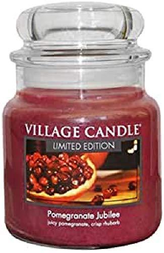 Village Candle 127316862 Pomegranate Jubilee Pot de Verre, Violet, 9,7 x 9,5 x 10,9 cm