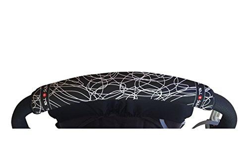 Tris&Ton Fundas empuñaduras horizontales, empuñadura funda para silla de paseo cochecito carrito carro. Variación de modelos (Tris y Ton)
