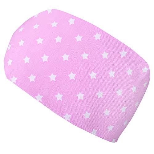 Wollhuhn Cinta elástica para el pelo con diseño de miniestrellas para niñas, color rosa y blanco 20203133