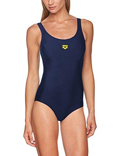 Arena Melby, Bañador para Mujer, Azul (Navy/Yellow Sta), 50