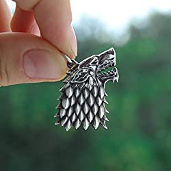 game of thrones handmade gifts ~ Direwolf Pendant