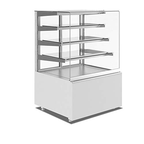 Vitrina horizontal neutra 3 estantes con LED – 610 a 1310 mm – SAYL – 610 mm