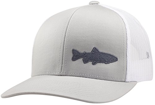 LINDO Trucker Hat - Trout Fishing 2.0 (Silver/White)