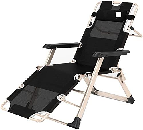 Sillón reclinable para jardín, resistente a la intemperie, para playa, tumbona, sillón, silla de oficina, Siesta, con marco ligero (tamaño: 185 cm)