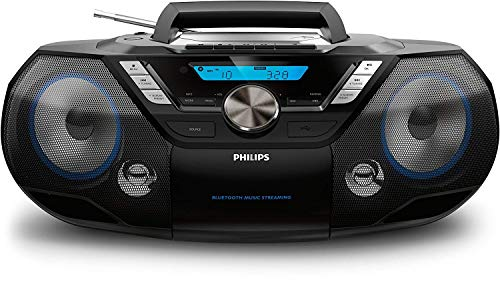 Philips AZB798T Bluetooth/CD-/MP3-Player mit USB-Port, Schwarz